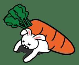 Naughty Rabbit Rabbin sticker #566410