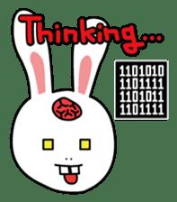 Naughty Rabbit Rabbin sticker #566413