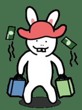 Naughty Rabbit Rabbin sticker #566415