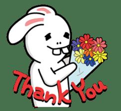 Naughty Rabbit Rabbin sticker #566420
