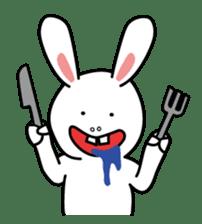 Naughty Rabbit Rabbin sticker #566421