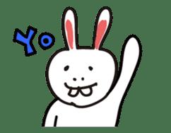 Naughty Rabbit Rabbin sticker #566425