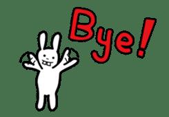 Naughty Rabbit Rabbin sticker #566426