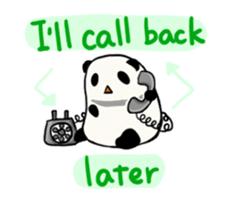 Moving Contact MochiPanda(English Ver) sticker #568319