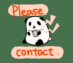 Moving Contact MochiPanda(English Ver) sticker #568325