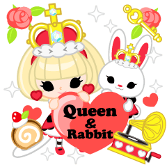 Queen and rabbit
