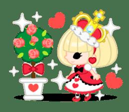 Queen and rabbit sticker #569325