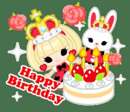 Queen and rabbit sticker #569326