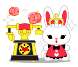 Queen and rabbit sticker #569327