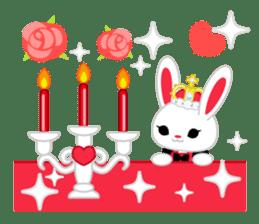 Queen and rabbit sticker #569334