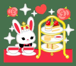 Queen and rabbit sticker #569336