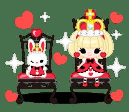 Queen and rabbit sticker #569339