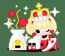 Queen and rabbit sticker #569342