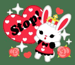 Queen and rabbit sticker #569343
