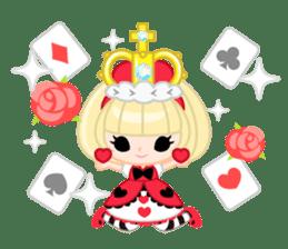 Queen and rabbit sticker #569344