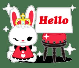 Queen and rabbit sticker #569347