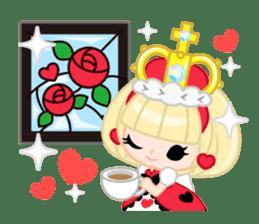 Queen and rabbit sticker #569348