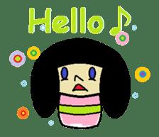 Kokeshi-girl sticker #571474