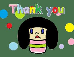 Kokeshi-girl sticker #571480