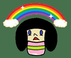 Kokeshi-girl sticker #571481