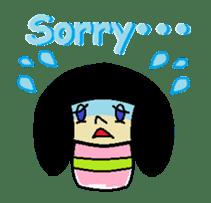 Kokeshi-girl sticker #571485