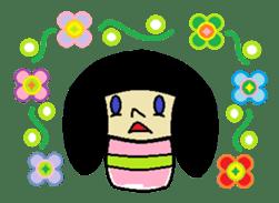 Kokeshi-girl sticker #571488