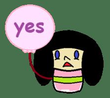 Kokeshi-girl sticker #571490