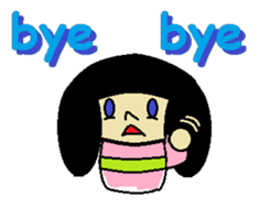 Kokeshi-girl sticker #571494