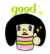 Kokeshi-girl sticker #571498
