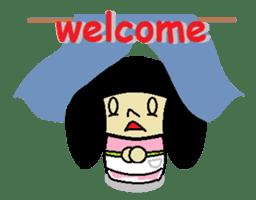 Kokeshi-girl sticker #571499