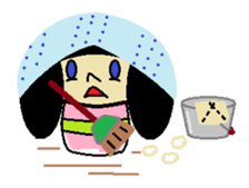 Kokeshi-girl sticker #571504