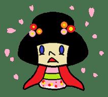 Kokeshi-girl sticker #571506