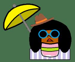 Kokeshi-girl sticker #571507