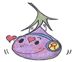 The RU eggplant sticker #574522