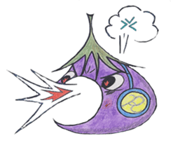The RU eggplant sticker #574534