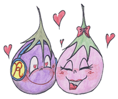 The RU eggplant sticker #574542