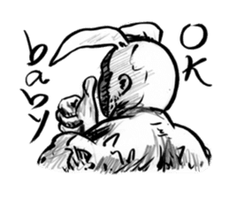 Bunny colonel for English (words to say) sticker #574807