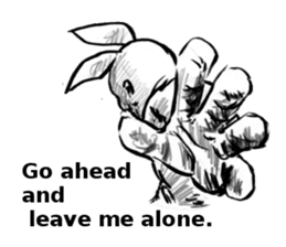 Bunny colonel for English (words to say) sticker #574814