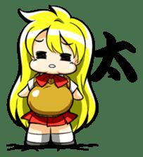 Blond hair saki. sticker #575049