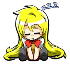 Blond hair saki. sticker #575051
