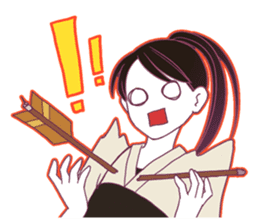 Kyudo girl Yumiko [English ver] sticker #578808