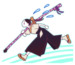 Kyudo girl Yumiko [English ver] sticker #578815
