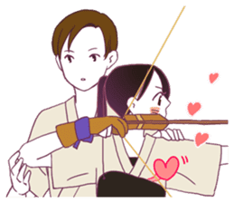 Kyudo girl Yumiko [English ver] sticker #578823