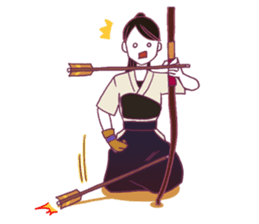 Kyudo girl Yumiko [English ver] sticker #578826