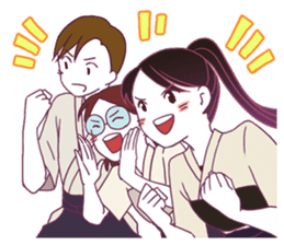 Kyudo girl Yumiko [English ver] sticker #578829