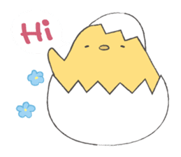 round chick sticker #580794