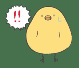 round chick sticker #580801