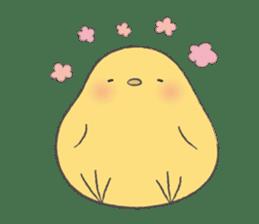 round chick sticker #580806
