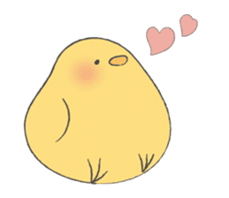 round chick sticker #580809