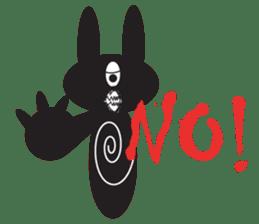 The Weird Black Rabbit 'RABIRA' sticker #582130